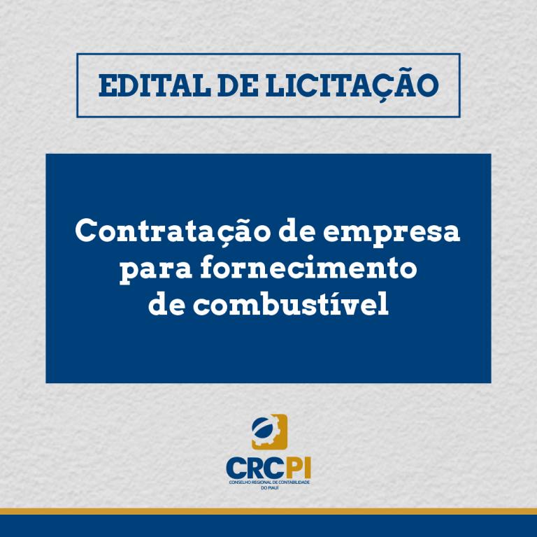 CRC-PI abre licitação para contratação de serviço de fornecimento de combustível