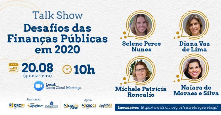 """Talk Show """"Desafios das Finanças Públicas em 2020"""""""