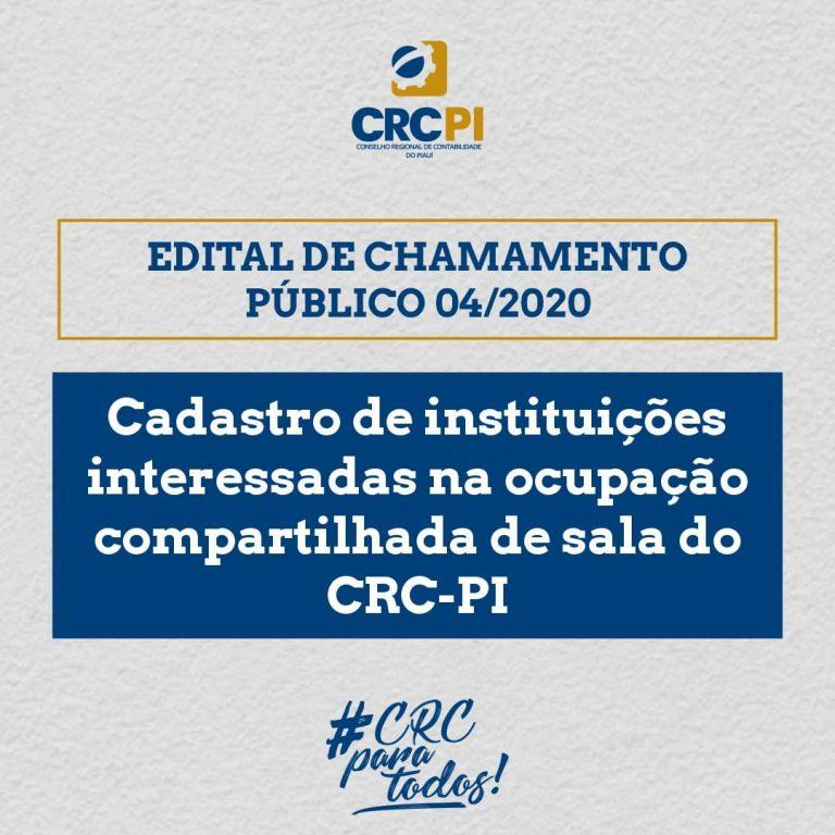 CRC-PI lança edital para uso compartilhado de salas na sede da instituição