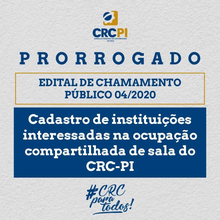 CRC-PI prorroga edital para uso compartilhado de salas na sede da instituição