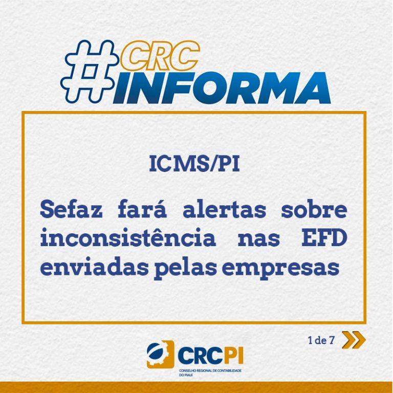 ICMS/PI – Sefaz fará alertas sobre inconsistência nas EFD enviadas pelas empresas