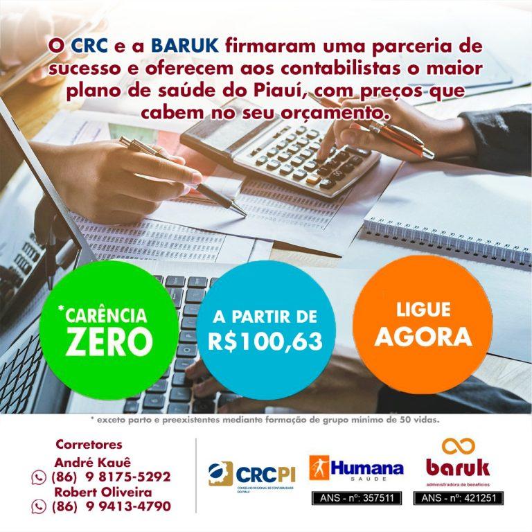 CRC-PI e Baruk Administradora de Benefícios firmam convênio para oferta de planos do Humana Saúde