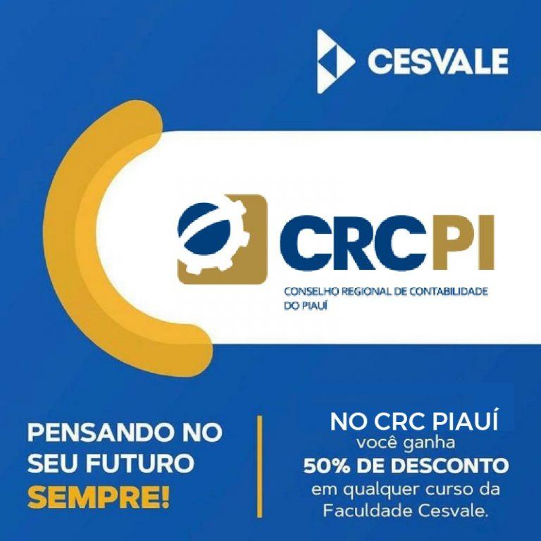Parceria entre CRC-PI e Cesvale concede desconto de 50% a profissionais da Contabilidade