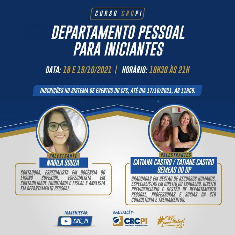 CRC-PI realiza curso de capacitação para departamento pessoal